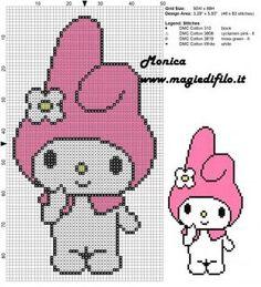 Schema punto croce My Melody 50x88 4 colori.jpg (1.16 MB) Osservato 8 volte