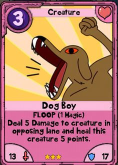 Adventure Time Card Wars - Dogboy - Nice Lands Card