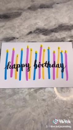 Watercolor Birthday Cards, Birthday Card Drawing, Bff Birthday, Friend Birthday Gifts, Diy Birthday Cards For Best Friend, Birthday Ideas, Birthday Crafts, Creative Birthday Cards, Handmade Birthday Cards
