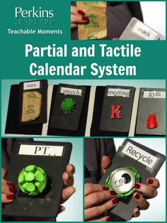In this video, Sharon Stelzer demonstrates a full-day calendar system that she developed for a 14 year old student. Teaching Activities, Sensory Activities, Classroom Activities, Teaching Tools, Classroom Ideas, Autism Education, Preschool Special Education, Autism Classroom, Visually Impaired Activities