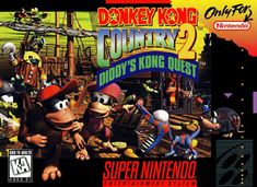 """""""Donkey Kong Country 2: Diddy's Kong Quest"""" > 1995 > Super Nintendo Entertainment System (SNES) > Action / Side Scrolling Platform"""