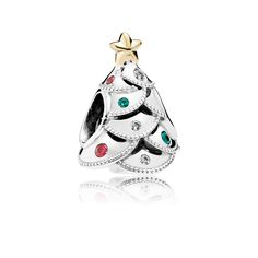 PANDORA | Festive Tree, Multi-Colored CZ . Thinking about starting a christmas bracelet, this will be my first charm.