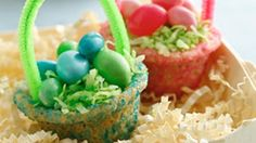 Create the most delicious Easter baskets! Sugar cookie mix makes it extra easy.
