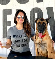 a87e73bb Weekends Are For The Dogs Dog Mama Shirt, Dog Mom Gift Ideas For Her, Dog  Lover T-Shirt, Funny Dog Shirts for Women, Mothers Day Gifts
