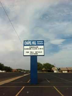 Take a Concealed Handgun Permit Class... at your church! Oh, this must be in Texas...we love the 2nd Amendment.