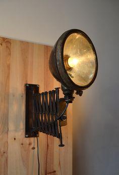 Steampunk Furniture, Vintage Industrial Furniture, Steampunk Lamp, Room Lights, Wall Lights, Bike Decorations, Tin Can Lanterns, Luminaire Vintage, Make A Lamp