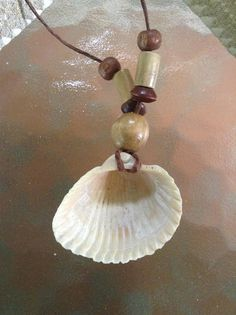 This item is unavailable Hemp Jewelry, Seashell Jewelry, Seashell Necklace, Seashell Crafts, Beach Crafts, Shell Necklaces, Summer Crafts, Cute Crafts, Diy Necklace