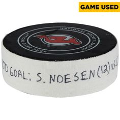 Stefan Noesen New Jersey Devils Fanatics Authentic Game-Used Goal Puck from March 27, 2018 vs. Carolina Hurricanes