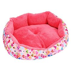 wowowoTM Cute Fashion Soft Warm Bed for Pet Dog Cat Mat Removable and DoubleSided Available Cotton Pink Medium *** Click on the image for additional details. (Note:Amazon affiliate link)