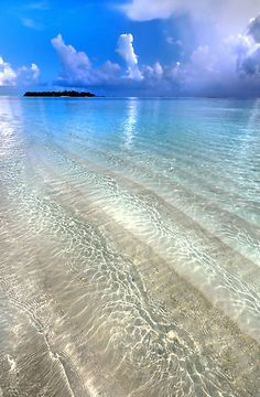 Crystal Water of the Ocean, Maldives (Photo by JennyRainbow)