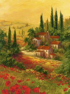 Autumn Vineyard I by Art Fronckowiak