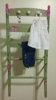 Old Chair Repurposed into Wall Rack by FromJunktoGems on Etsy, $40.00
