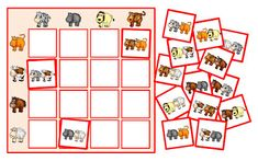 Reihenpuzzles mit Tieren
