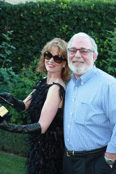 Master Sommelier Catherine Fallis of Planet Grape with Charles Olken of the Connoisseurs Guide before Sabering Krug Champagne at Sinegal Estate in Napa Valley