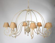 Lámpara Al-andalus 8 luces, se puede cambiar el color de la forja.