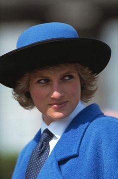 Lady Di in Blue