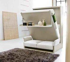 Esta sala/dormitorio. | 20 muebles para el hogar que son casi mágicos