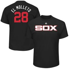"""Leury Garcia """"El Molleto"""" Chicago White Sox Majestic 2017 Players Weekend Name & Number T-Shirt - Black"""