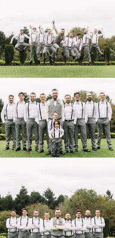 Padrinhos mesma roupa e suspensório. Love when the guys lose the jackets an just rock the vests. Wedding Groom, Wedding Attire, Wedding Couples, Our Wedding, Dream Wedding, Wedding Ideas, Groomsmen Poses, Bridesmaids And Groomsmen, Wedding Fotos