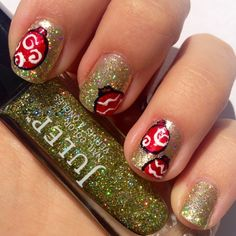 Julep Shoshanna + Christmas ornaments | Already can't wait for the holidays.. just for sparkly manis!