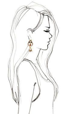 Love love drawings, pencil drawings of girls, easy drawings, drawing people Pencil Drawings Of Girls, Art Drawings Sketches, Love Drawings, Beautiful Drawings, Art Sketches, Sketches Of Women, Easy Sketches To Draw, Simple Pencil Drawings, Drawing Faces