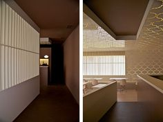 inviting and minimal, the space seeks to communicate a contemporary architectural language while retaining a unique aesthetic. Partition Screen, Sushi Restaurants, Minimalism, Contemporary, Wall, Public, Interiors, Inspiration, Furniture