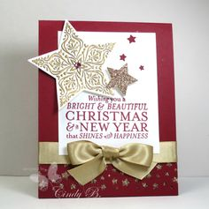 Golden Stars  with Bright & Beautiful Christmas