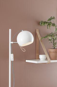 Ball from Markslöjd Desk Lamp, Table Lamp, Leroy Merlin, Pastel Colors, Interior Inspiration, Wall Lights, Flooring, Living Room, Interior Design