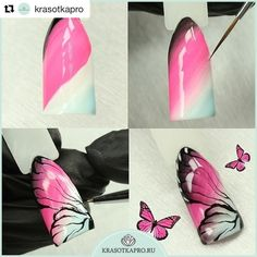 #Repost @krasotkapro with @repostapp ・・・ Небольшой мастер-класс «Крыло бабочки» от наших мастеров в преддверии теплых деньков. Выполнен гель-лаками Haruyama.  http://www.krasotkapro.ru/catalog/brand/haruyama/ (ссылка на сайт есть в нашем профиле, сделать заказ можно кликнув на кнопку «Связаться» в шапке профиля)  #krasotkapro #красоткапро #nails #manicure #nailsart #nailart #nailsdesign #naildesign