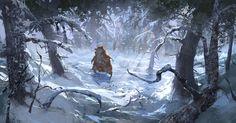 The walking bear , Andrei Pervukhin on ArtStation at https://www.artstation.com/artwork/the-walking-bear