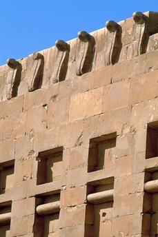 Uraeus snakes, near Djoser's Pyramid, Saqqara, Egypt