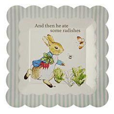 Peter Rabbit Small Paper Plates @ Fancy Flours