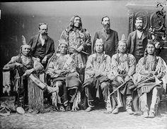 IndiansCraft: Delegación de jefes de la tribu apsálooke, 1880.