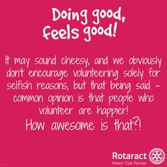 doing good, feels good! Rotaract