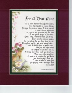 Happy Birthday Wishes Aunt, 60th Birthday Poems, Happt Birthday, Happy 90th Birthday, Presents For Aunts, Easter Poems, Daughter In Law Gifts, Aunt Gifts, Aunt Sayings
