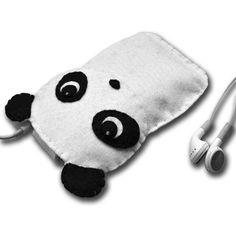 felt panda iphone/ipod case