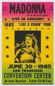 Amazon.com: Madonna - The Beastie Boys Concert Poster (1985) Convention Center San Fransisco, CA (14 x 22 Inches - 36cm x 56cm): Home & Kitchen