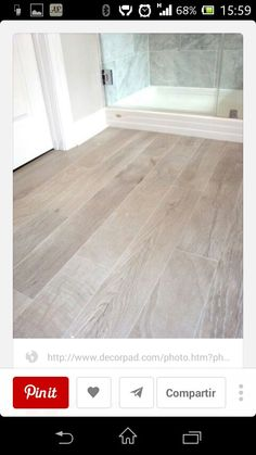 bathrooms - Italian Porcelain Plank Tile, faux wood tile, tile that looks like- wood, Italian Porcelain Plank Tile Bathroom Floor by I would chose a different wood tone, but I do like that wood look tile on the floor! Faux Wood Tiles, Wood Tile Floors, Wood Look Tile Floor, Ceramic Wood Tile Floor, Faux Wood Flooring, Wood Plank Tile, Basement Flooring, Tile Looks Like Hardwood, Laminate Flooring