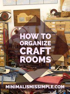 'Minimalist Decor: Organizing Craft Rooms...!' (via Minimalism is Simple)