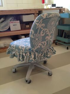 The Sewing Nerd | Ugly office chair makeover | This lady can work magic.