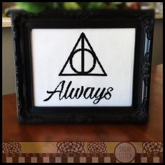 Always - Inspired by Harry Potter Cross Stitch ( Printable PDF ) - Immediate Download from Etsy - Pattern inspired by Deathly Hallows by SugarStitchbyEllie on Etsy https://www.etsy.com/listing/257608411/always-inspired-by-harry-potter-cross