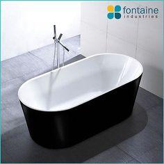 Harper Freestanding Bath Tub Bathtub Round Elegant Bathroom Black 1500 NEW!