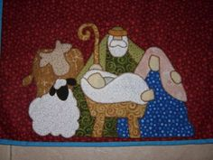 kimekomi na Christmas - Zszywka. Christmas Manger, Christmas Nativity Scene, Christmas Art, Christmas Projects, Christmas Stockings, Nativity Crafts, Christmas Crafts, Christmas Ornaments, Christmas Applique