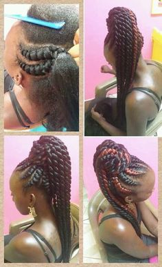 Unique ponytail 'do by Jahair Salon - Black Hair Information Community