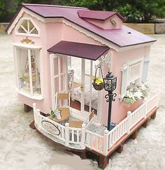 Dollhouse-Miniature-DIY-Kit-w-Light-Italy-HoneyMoon-Travel-Home-Romantic-Love