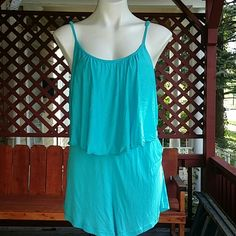 NWT Blue Romper 100 percent rayon. Very light weight. Adjustable straps. Elastic in the waist. Is an extra large but runs smaller. Price is firm unless bundled. Rue 21 Pants Jumpsuits & Rompers