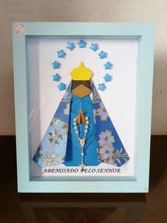 Quadro N.Senhora de Aparecida em origami-Criativa'arte origami&acessórios