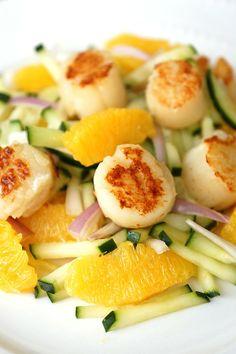 Citrus Scallop and Cucumber Salad