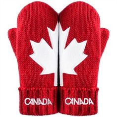 Canada Red mittens - we show are love of the Maple Leaf on our hands!