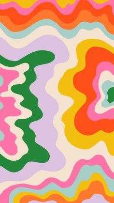 Look Wallpaper, Hippie Wallpaper, Cute Patterns Wallpaper, Iphone Background Wallpaper, Aesthetic Iphone Wallpaper, Aesthetic Wallpapers, Iphone Wallpaper Bright, Colorful Wallpaper, Cool Patterns